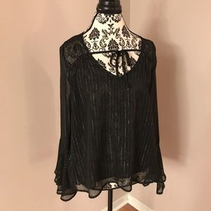 Hollister sparkly blouse